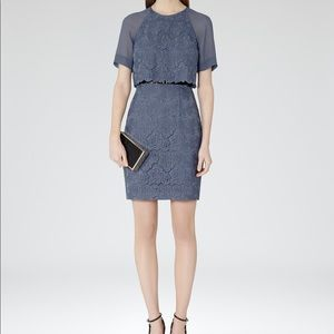 NWT Reiss Calla Burnout Dress in Cornflower